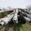 Former Route 66 light poles at Muncipal Park in Carthage.<br /> Globe | Roger Nomer