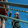 Michael Englebert Griffin, preservation architect, talks about repairs to be made to the exterior of the Schifferdecker House on Monday.<br /> Globe | Roger Nomer
