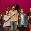 The cast of The Addams Familly rehearse a scene from The Addams Family on Tuesday at Joplin High School.<br /> Globe | Roger Nomer