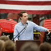 Missouri Attorney General Josh Hawley speaks at Able Manufacturing on Friday afternoon.<br /> Globe | Roger Nomer