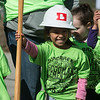 Damaris Valdez, a pre-K student at Goodman Elementary, poses for a photo during Wednesday's groundbreaking.<br /> Globe | Roger Nomer