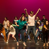The cast of The Addams Family rehearse a scene from The Addams Family on Tuesday at Joplin High School.<br /> Globe | Roger Nomer