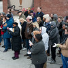 The memory of lynching victim Thomas Gilyard is remembered during a ceremony at Second and Wall on Sunday.<br /> Globe | Roger Nomer