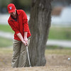 Nathan Ogden, a sophomore at Webb City High School, hits onto the green during Thursday's Joplin Invitational at Twin Hills.<br /> Globe | Roger Nomer