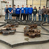 Riverton FFA students have constructed this 17-foot Route 66 sign, shown a the high school on Tuesday.<br /> Globe | Roger Nomer