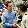 Missouri Attorney General Josh Hawley talks with Linda Carman, Joplin, following his speech at Able Manufacturing on Friday afternoon.<br /> Globe | Roger Nomer