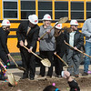 Ground is broken for the new Goodman Elementary School on Wednesday.<br /> Globe | Roger Nomer