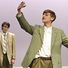 "From the left: Jakob Hubbs portrays Barnaby Tucker and Benjamin Belnap perfects his role as Cornelius Hackl during rehearsal for the Joplin High School production of  ""Hello Dolly!"" on Wednesday at JHS.<br /> Globe 