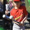 Six-year-old Luke Winter is a study in concentrated as he tees off for a base hit during Opening Day of Miracle League Baseball on Saturday morning at the Joplin Athletic Complex.<br /> Globe | Laurie Sisk