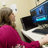 Ashlea Zumwalt, a Missouri Southern senior from Joplin, edits a documentary on Teen Hop at MSSU on Monday.<br /> Globe | Roger Nomer