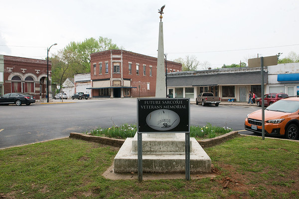 The City of Sarcoxie is planning a Veterans Memorial on the town square.<br /> Globe | Roger Nomer