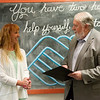 Joplin Mayor Gary Shaw gives a proclaimation to Rhonda Gorham, executive director of the Boys and Girls Club of Joplin on Monday.<br /> Globe | Roger Nomer