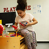 Milyah Martin, 9, plays at the Joplin Boys and Girls Club on Monday afternoon.<br /> Globe | Roger Nomer