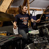 """Me Like Bees"" drummer Lewis Brossman rehearses with the popular rock band on Thursday at their rehearsal space. The band has managed to balance both their work and band lives, performing multiple gigs.<br /> Globe 