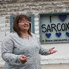 Patty Mandera, community engagement coordinator for the City of Sarcoxie, talks about an empty building on the town square the city if offering for sale.<br /> Globe | Roger Nomer