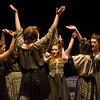 "Witches rehearse a scene from ""Macbeth"" at Joplin High School on Tuesday.<br /> Globe 