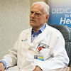 Uwe Schmidt, infectious disease specialist, talks about the spread of COVID-19 through the region during an interview on Thursday at Freeman Hospital.<br /> Globe | Roger Nomer