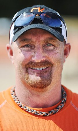 Globe/T. Rob Brown<br /> Brandon Hankins, of Joplin, volunteer who helped build playground