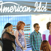 Globe/T. Rob Brown<br /> Brittnie Jameson, of Joplin, left, anxiously awaits the judges decision at the end of an American Idol audition Wednesday morning at Landreth Park.