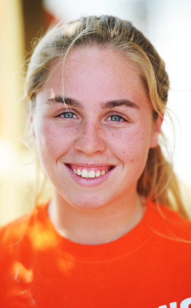 Globe/T. Rob Brown<br /> Hannah Van Den Derg, 17, of Villa Park, Calif., with Covenant Presbyterian of Orange, Calif.