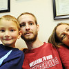 Globe/T. Rob Brown<br /> The Mitchells in the waiting room Wednesday afternoon, Aug. 1, 2012, at the Ozark Neuro Rehab Center in Springfield. Pictured from left: Terry, Sheldon, 5, Jake and Paula.