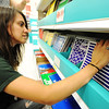 Globe/T. Rob Brown<br /> Stephanie David, of Webb City, shops with her mom, Julie Reavis, of Joplin, for school supplies Monday afternoon, Aug. 6, 2012, at Target in Joplin. Both women are nursing majors at Missouri Southern State University.