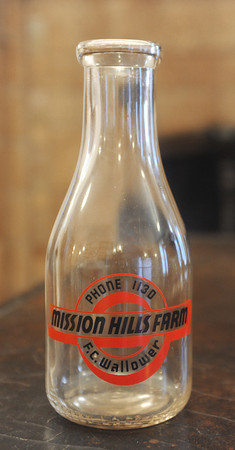 Globe/Roger Nomer<br /> An original bottle from the dairy that previously stood where MSSU is today.