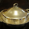 Globe/Roger Nomer<br /> Silver platter from the Mission Hills Farm.