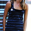 Globe/T. Rob Brown<br /> Krystal Thompson, 16, of Perry, Kan., competes in an American Idol audition at Landreth Park Wednesday morning, Aug. 22, 2012. Thompson and her friend Danielle Winchester, 16, of Lecompton, Kan., were there to support each other in their dream.