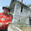 Globe/Roger Nomer<br /> Galena Mayor Dale Oglesby talks about the restoration of the Steffleback house during an interview on Thursday.