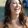 Globe/T. Rob Brown<br /> Melissa Smith, of Joplin, shows her excitement following a successful American Idol audition at Landreth Park Wednesday morning, Aug. 22, 2012.