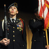 Globe/Roger Nomer<br /> Carter Lybarger, Joplin High senior, participates with the JROTC at College Heights Christian Church during Tuesday's Opening Day rally.