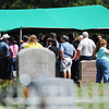 A large number of people attend Adriaunna Horton's graveside services Wednesday afternoon, Aug. 28, 2013, in Golden City.<br /> Globe | T. Rob Brown