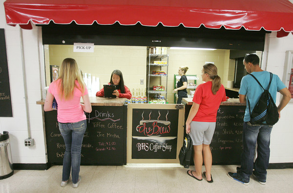 Globe/Roger Nomer<br /> The Brew is a popular place to stop between classes for students at Baxter Springs High School.