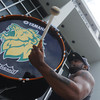 Globe/Roger Nomer<br /> Jaron Davis, a Missouri Southern sophomore from Springfield, Ill., practices with the MSSU Drum Line on campus on Tuesday afternoon.