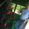 Globe/Roger Nomer<br /> Larry Spahn talks about the interior of the restored Kansas City Southern Steam Locomotive 1023 at the Heart of the Heartlands Museum Complex in Carona on Friday morning.