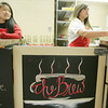 Globe/Roger Nomer<br /> Brea Waltley, left, and Cassidy Bingham, both juniors at Baxter Springs High School, serve coffee at the The Brew on Thursday morning.
