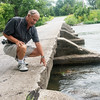 Globe/Roger Nomer<br /> Rod Harsh talks about the low-water bridge at Jackson on Friday.