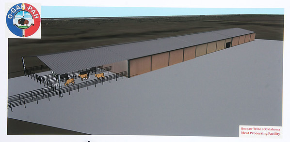 Globe/Roger Nomer<br /> Rendering of the Quapaw meat processing facility.