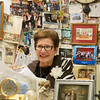 Globe/Roger Nomer<br /> The walls of Laurel Rosentha's principal office are lined with momentos from her 50 years of teaching at Mark Twain Elementary.