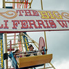 Globe/Roger Nomer<br /> Jennifer and Schaelynne, 9, Burgos, Osceola, Fla., ride the ferris wheel on Friday at Joplin 44 Petro's annual Truckers Jamboree.