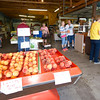 Customers flock to the market for fresh peaches and produce on Friday at Murphy Orchard in Marionville.<br /> Globe | Laurie Sisk