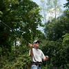 Globe/Roger Nomer<br /> Kevin Williams, Springfield, flyfishes on Thursday at Roaring River State Park.