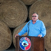 Globe/Roger Nomer<br /> Chairman John Berrey talks during the groundbreaking for the Quapaw meat processing plant on Wednesday.