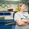 The Flip Shop's Susan Doss watches her girls during classes on Wednesday night at The Flip Shop.<br /> Globe | Laurie Sisk