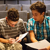 Globe/Roger Nomer<br /> Thomas Jefferson Independent Day School sophomores Aaron Wells, left, and Richie Joseph sign their honor codes during the first day of school on Monday.