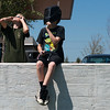 Globe/Roger Nomer<br /> Brothers David, 13, left, and Ben, 11, Yorke, Webb City, watch the solar eclipse on Monday at the Joplin Public Library.