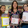 Globe/Roger Nomer<br /> (from left) North Middle School eighth graders Tatiana Potter, Jocellyn Hund and Faith Tupper are organizing a drive to provide funds for Hurricane Harvey victims.