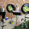 From the left: Members of the Missouri Southern Lion Pride Marching Band drumline rehearse Tuesday at MSSU for their upcoming season. Fans can expect to see a variety of shows from the band throughout the season.<br /> Globe | Laurie Sisk