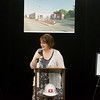 Globe/Roger Nomer<br /> Carrie Cline, library director, talks before Thursday's groundbreaking at the Neosho Newton County Library.